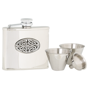 Flask Set Oval Celtic