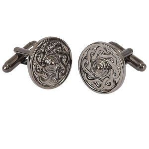 Celtic Cufflinks Black Chrome
