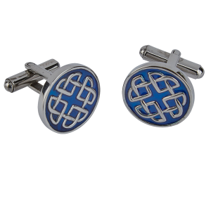 Celtic Blue Enamel Cufflinks