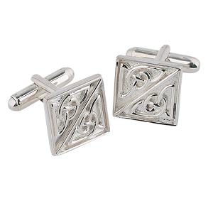 Square Celtic Silver Cufflinks