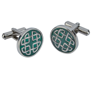 Celtic Emerald Enamel Cufflinks
