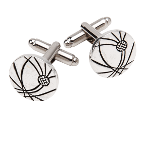 Thistle Etched Cufflinks