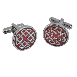 Celtic Enamel Red Cufflink