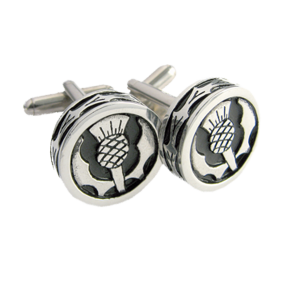 Polished Round Thistle Cufflinks