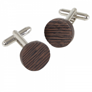 Wenge Wood Round Cufflinks