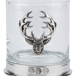 Pair Stag Whisky Glasses