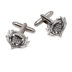 Traditional Cufflinks Thistle