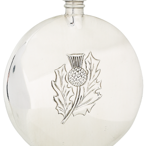 3oz thistle sporran pewter flask