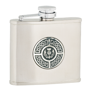 celtic and thistle flask