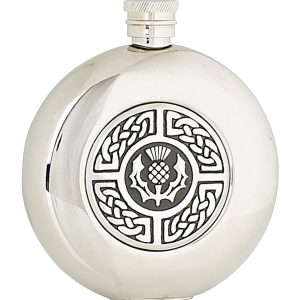 5oz celtic and thistle steel flask