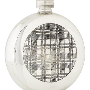6oz checked tartan pewter flask